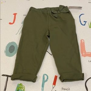 NWT Children's Place Army Green sweats 18m